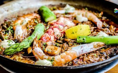 A marriage of cultures: paella on the braai